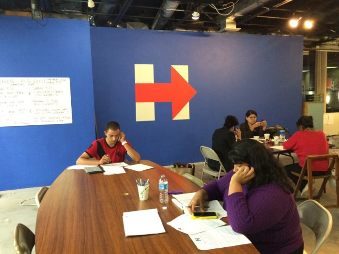 Volunteers at Hillary Clinton office in Reno, Nevada
