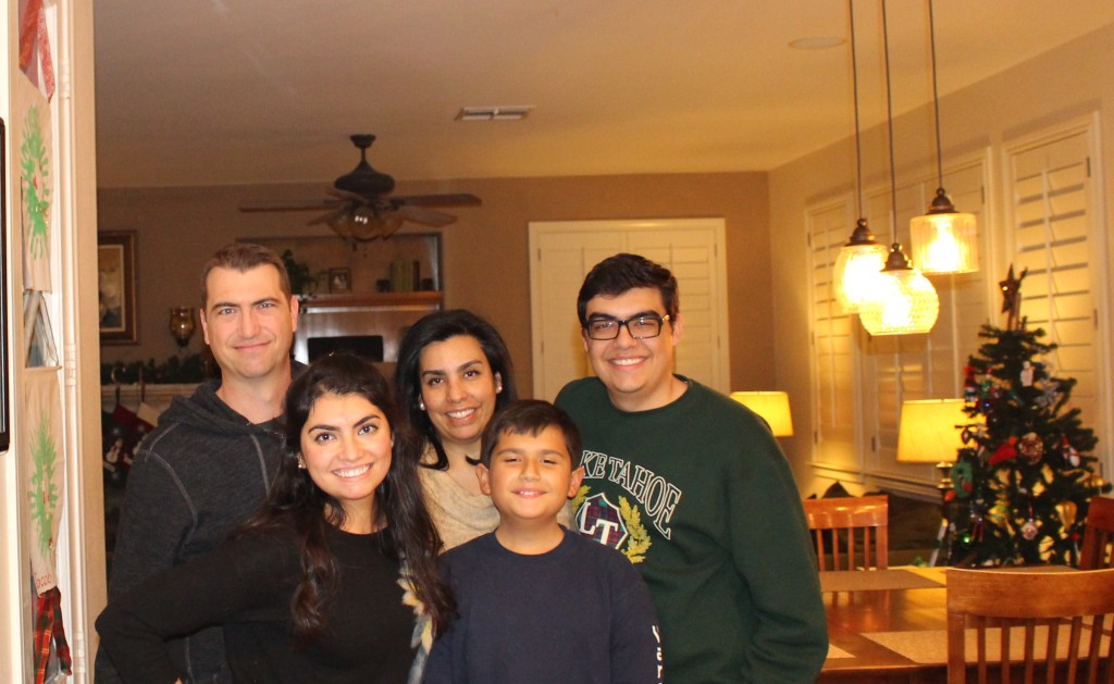 Solis Family during Christmas.
