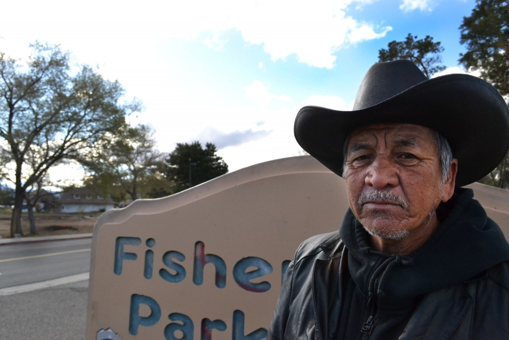 Juan in front of Fisherman Park.