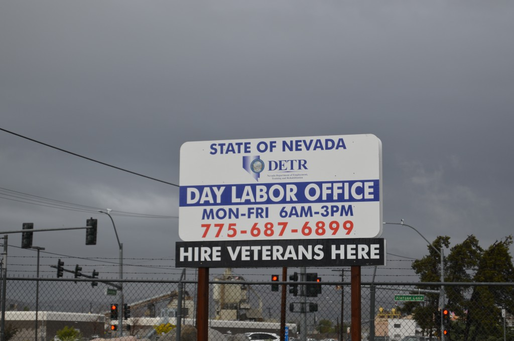 """Day Labor Office,"" sign."