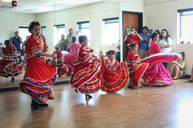 Local Folklórico instructor Sarah Perez doesn't have an age limit, she teaches children as young as three to adults.