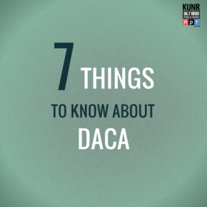 """7 Things to Know About DACA."" Graphic by Natalie Van Hoozer."