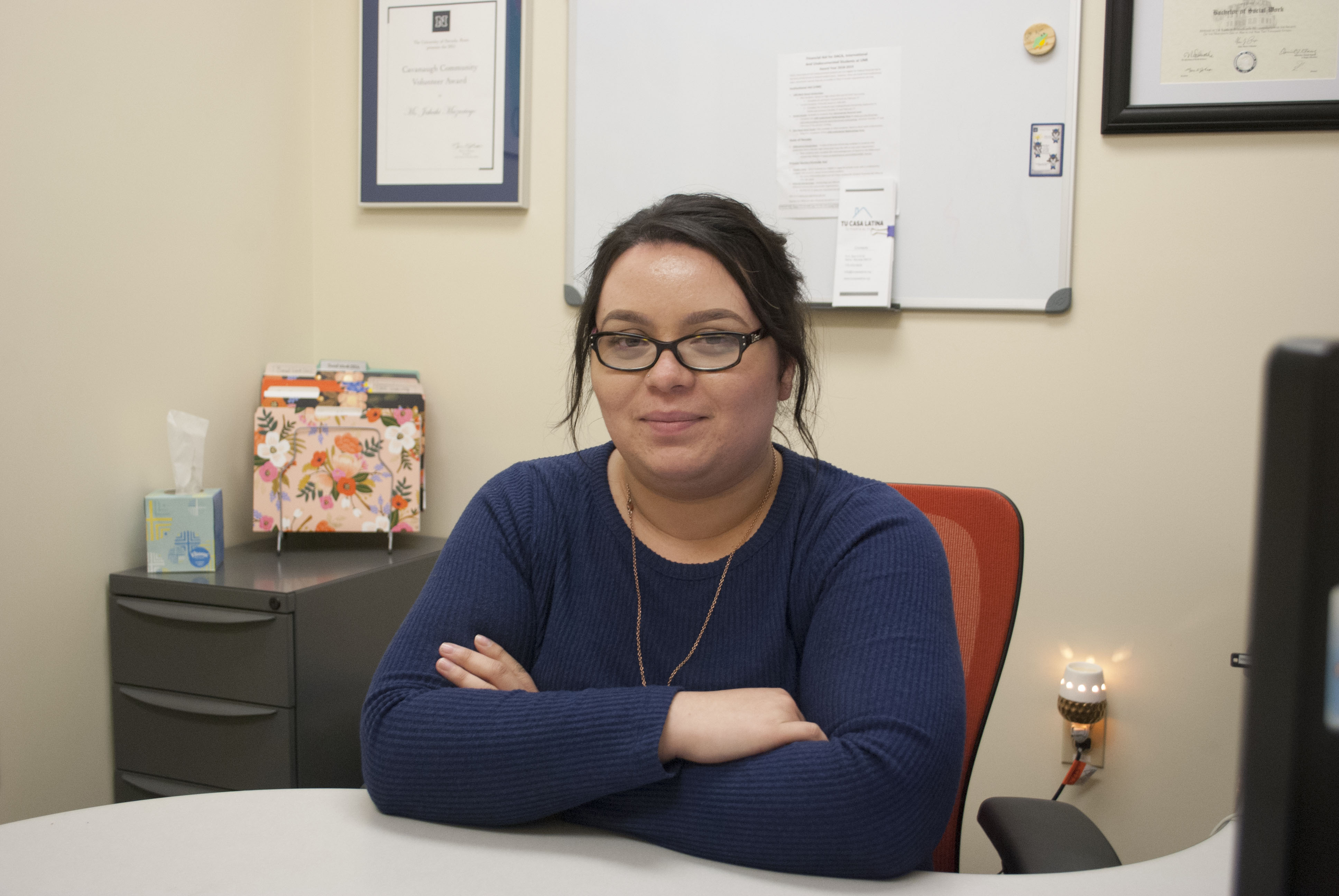 Jahahi Mazariego is the UNR Social Services Coordinator and works with the university's undocumented students. CREDIT: Jolie Ross