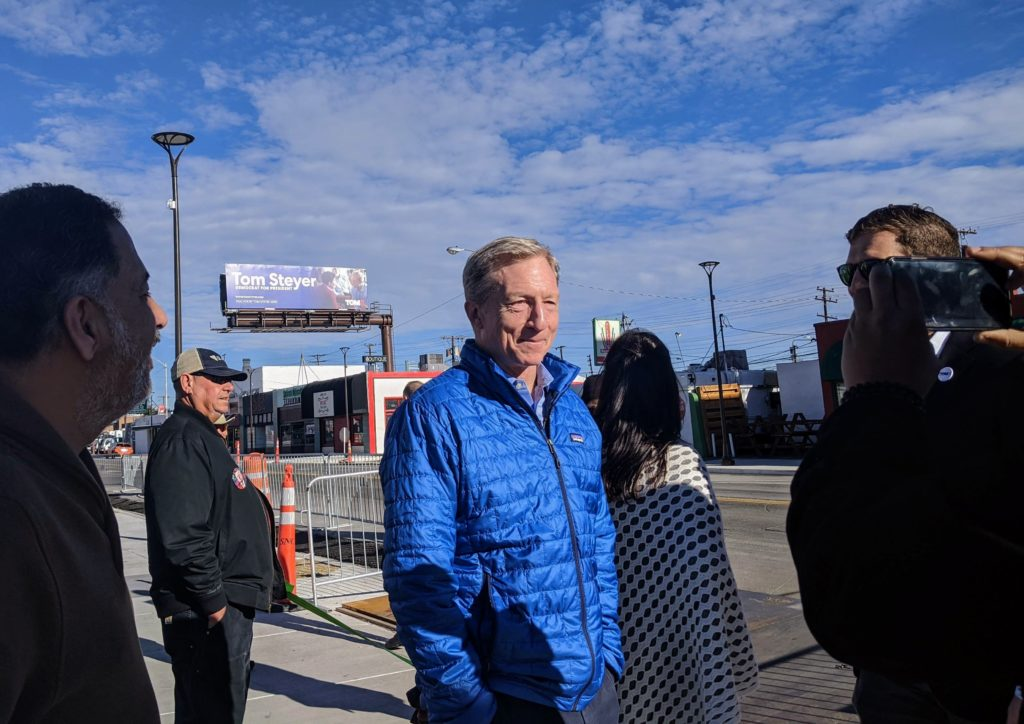 Tom Steyer visits Reno 2020