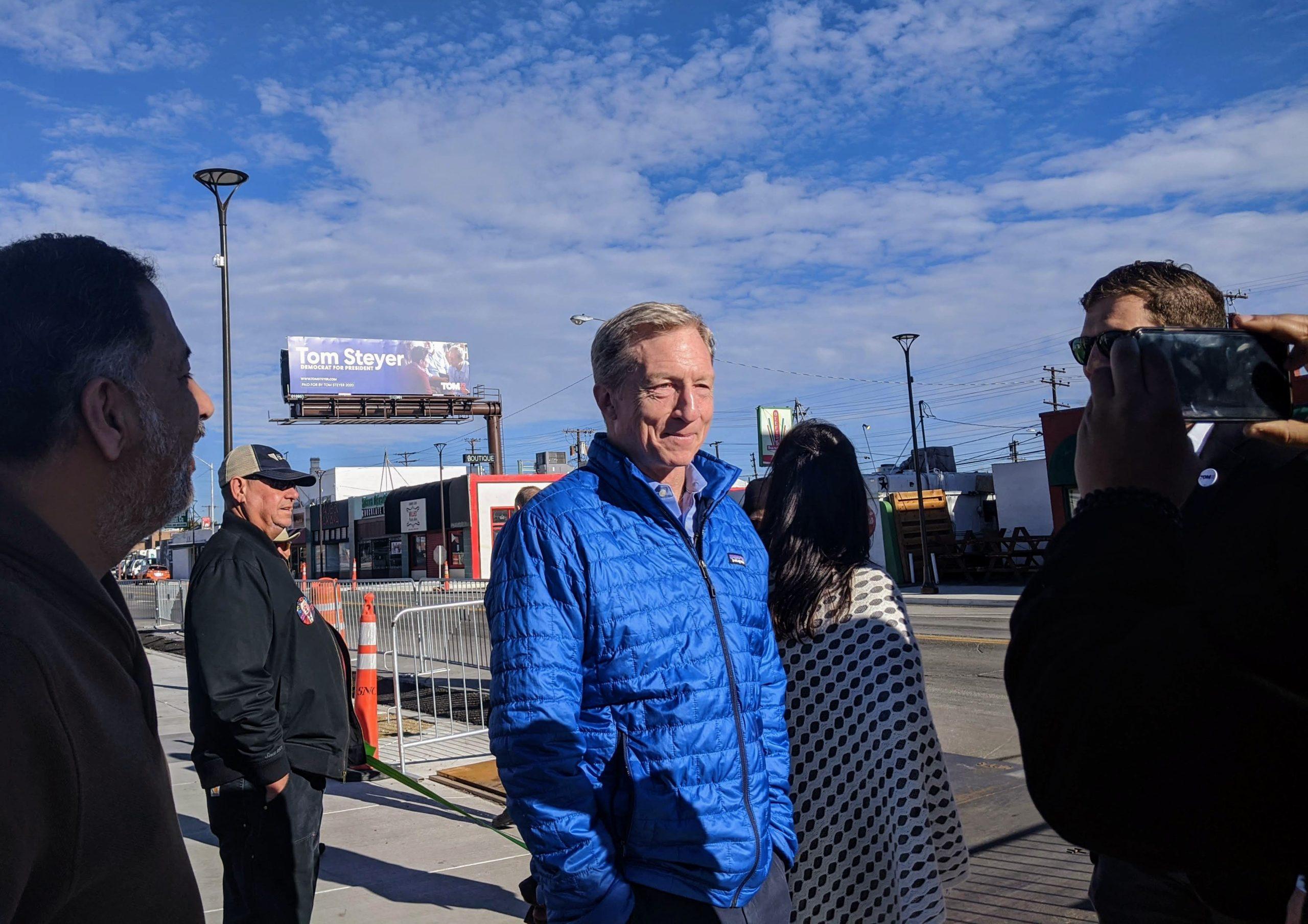 Tom Steyer visits Reno 2020