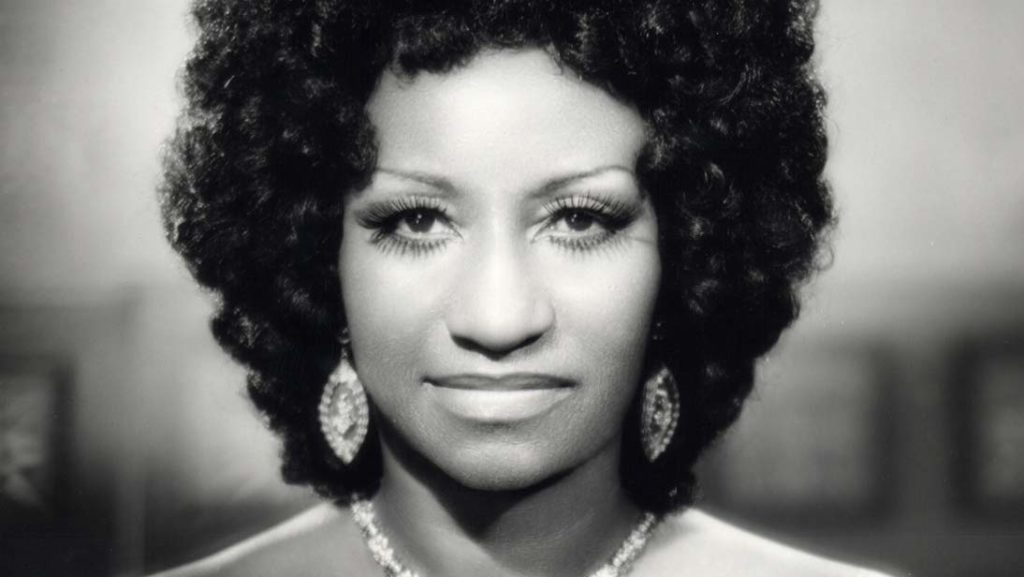 Vintage photo of Celia Cruz.