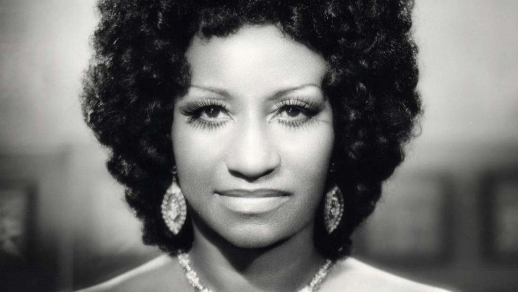 Vintage photo of Celia Cruz.