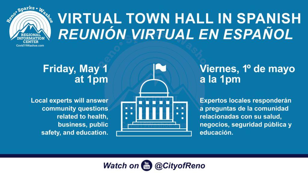 Graphic of a virtual chat with Senator Catherine Cortez Masto