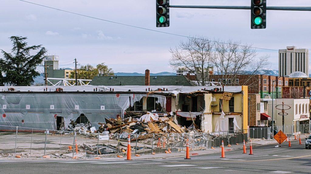 Photo of demolished Union Sundance.