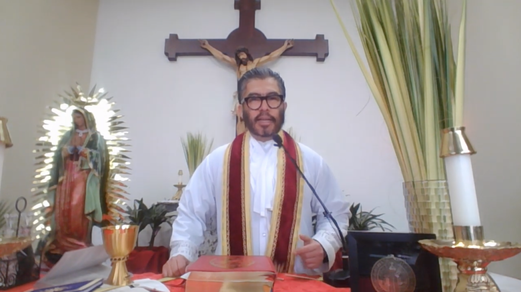 Father Edgar host mass on YouTube