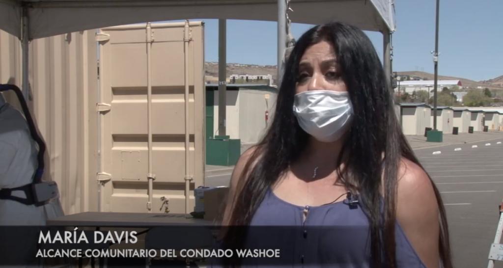 María David explains COVID-19 testing process