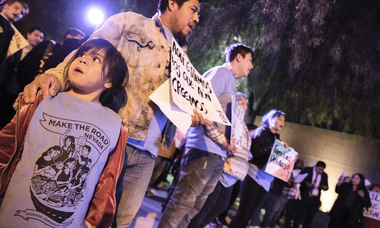 Protestors in support of DACA