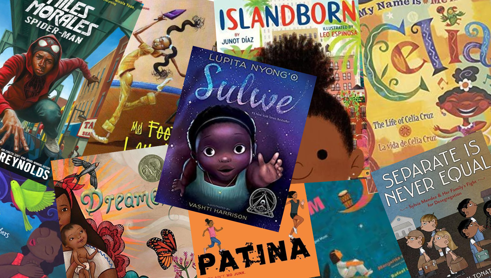 children's book covers of Black and Latino titles