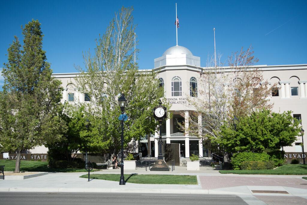 The Nevada legislature in Carson City