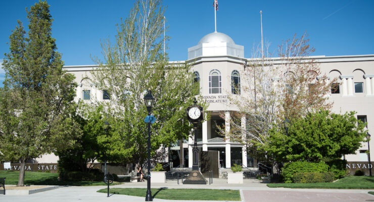 The Nevada legislature in Carson City