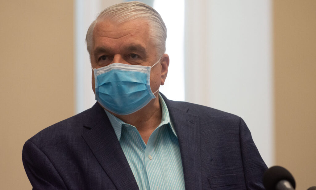Nevada Governor Steve Sisolak with mask on